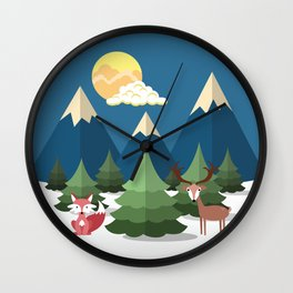 Christmas Trees Wall Clock