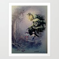 thegnarledbranch Art Prints featuring The Beckoning by TheGnarledBranch