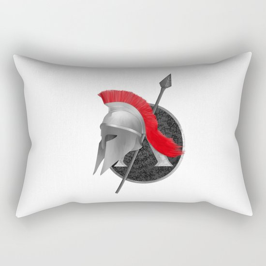 Spartan Helmet Rectangular Pillow
