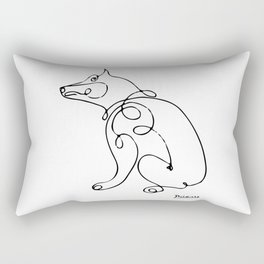 Pablo Picasso Dog Artwork, Animals Line Sketch, Tshirts, Prints, Posters, Bags, Men, Women, Kids Rectangular Pillow