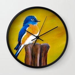 Perching Post Wall Clock