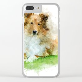 Shetland Sheepdog / sheltie Clear iPhone Case