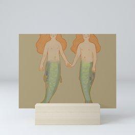 sardine mermaids Mini Art Print