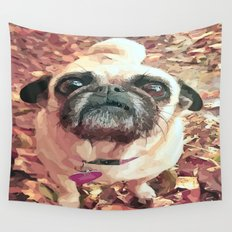 Pug Love ~ In Delilah's Eyes Wall Tapestry
