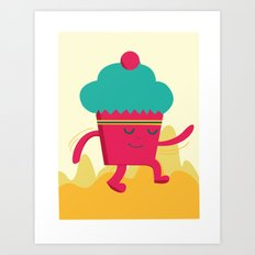 Dancing Cupcake Art Print
