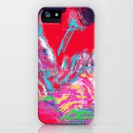 Glitch Mountain iPhone Case