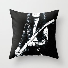 Jimmy Page Throw Pillow