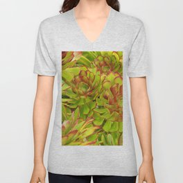 Beautiful Succulents Unisex V-Neck