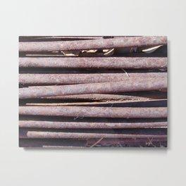 Metal Rod Texture Study Metal Print