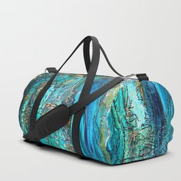 Doodle in blue Duffle Bag