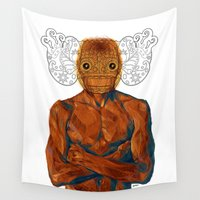 demon Wall Tapestries featuring Demon by Rofi