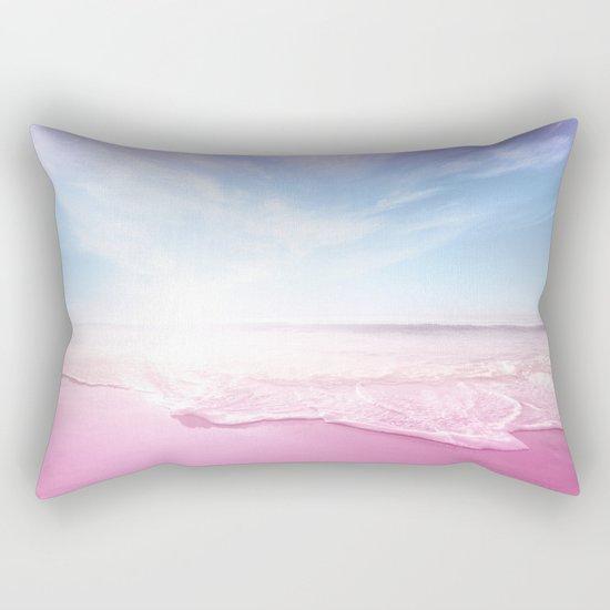 Pastel Summer Beach Vacation Rectangular Pillow