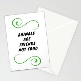 Los animales son nuestros amigos, no nuestra comida Stationery Cards