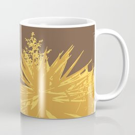 Mustard yucca leaves on toffee background Coffee Mug