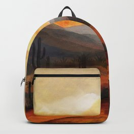 Desert in the Golden Sun Glow Backpack