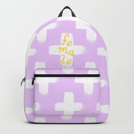 Female - Lilac 'n Yellow Palette Backpack