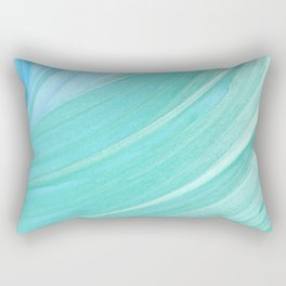 Jade Ocean Waves in Watercolor Rectangular Pillow