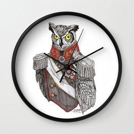 General Owlington Wall Clock