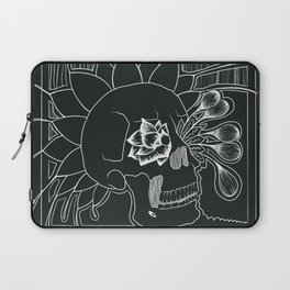 Skull line drawing Laptop Sleeve