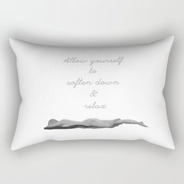 Allow yourself to soften down & relax Rectangular Pillow