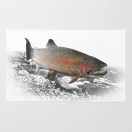 Migrating Steelhead Trout Rug