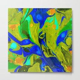 Green Flow Metal Print