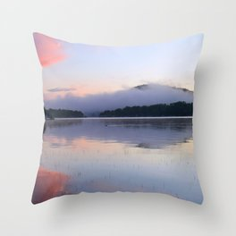Tranquil Morning in the Adirondacks Throw Pillow