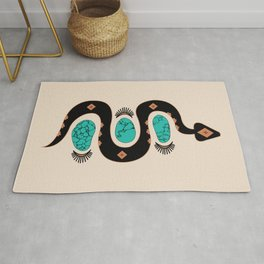 Southwestern Slither in Black Rug