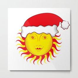 Sun: Merry Christmas Metal Print