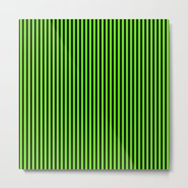 Striped black and light green background Metal Print