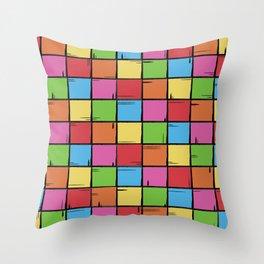 Color Boxes Throw Pillow