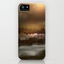 Magical sunset in winter iPhone Case