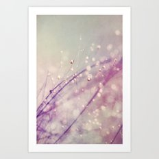 Vintage Feather Drops Art Print