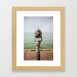 view to the bay Framed Art Print