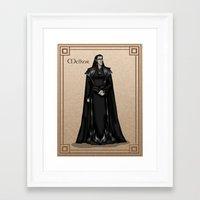 valar morghulis Framed Art Prints featuring Melkor by wolfanita