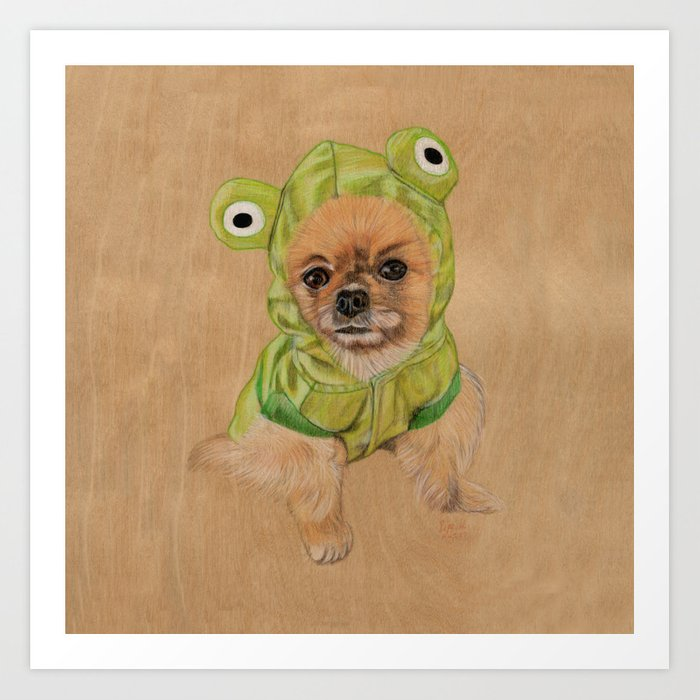 Littlle Greenie Art Print