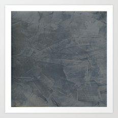 Slate Gray Stucco - Faux Finishes - Rustic Glam Art Print
