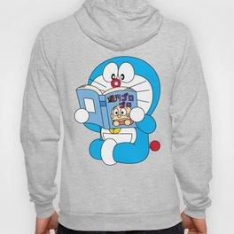 Doraemon Reading Comic Book Hoody