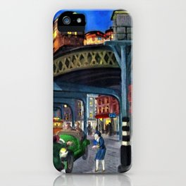 Classical Masterpiece 'Sixth Avenue Elevated at Third Street' New York City by John Sloan iPhone Case