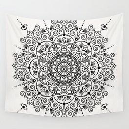 Moroccan Mandala – Black Ink Wall Tapestry