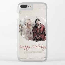 OUAT HAPPY HOLIDAYS // Swan Queen Clear iPhone Case