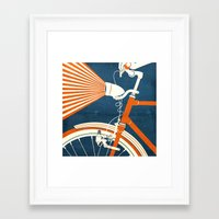 bicycle Framed Art Prints featuring Bicycle Light by Fernando Vieira