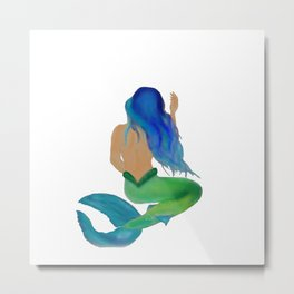 Mermaid I Metal Print
