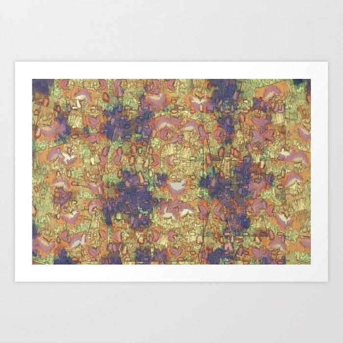 Mineral Map - Abstract Art Art Print