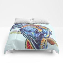 Psychedelic Parrot Australian Cockatoo Comforters