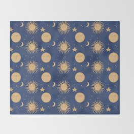 Celestial Bodies Throw Blanket