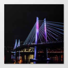 Tilikum Crossing in Blue and Magenta Canvas Print