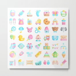 CUTE BABY PATTERN Metal Print
