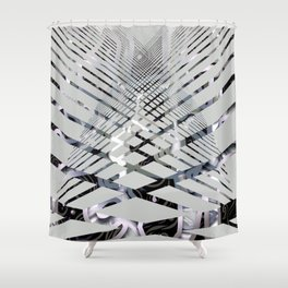 Geoabstract by Leslie Harlow Shower Curtain