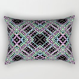Geometric pattern.Cell oblique .  1 Rectangular Pillow